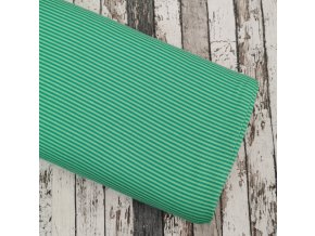 Úplet tenký proužek, zelený 025