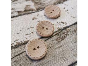 Knoflík dřevěný ,kulatý