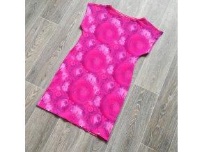 Šaty dámské Yháček, Růžové mandaly, digi