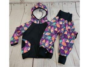 Zimní softshellové kalhoty Yháček, trojúhelníky digi