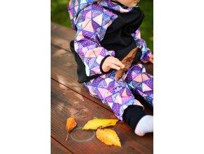 Softshellová bunda Yháček, zimní, trojúhelníky digi