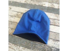 Šmoulí čepička Yháček, oboustranná, černá/královsky modrá