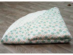 Měkkoučká deka Yháček, ježečci/hvězdy mentolové