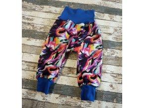 Zimní softshellové kalhoty Yháček, graffiti barevné