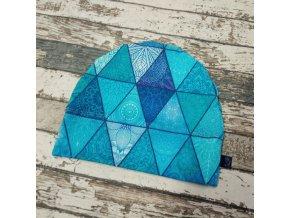 Rostoucí čepička Yháček, fantasy trojúhelník modrý