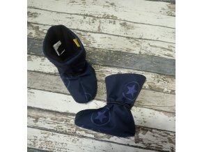 Nosicí botičky - válenky Yháček, flís, hvězdy na tmavě modré