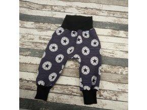Zimní softshellové kalhotky Yháček, hvězdy a kotvičky