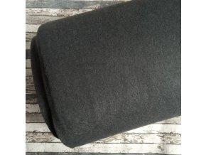 Fleece antipiling, 300 g, šedá se světlejší nitkou, 654