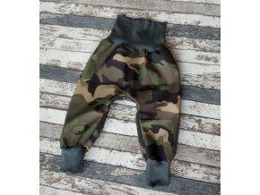 Zimní softshellové kalhotky Yháček, maskáč