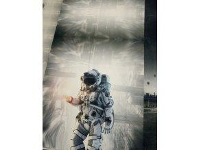Panel - teplákovina, kosmonaut abstrakce