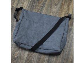 Softshellová kabelka Maxi Yháček, šedá žíhaná