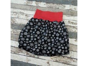 Balónová sukně Yháček,  Vánoční vločky na černé