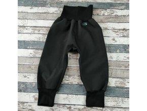 Softshellové kalhoty Yháček, letní, černá/černá