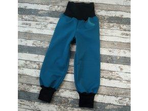 Softshellové kalhoty Yháček, zimní, petrolejové/černé