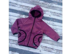 Softshellová bunda Yháček, zimní, vínový melír