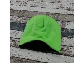 Šmoulí čepička Yháček, zelený neon, flís