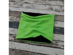 Nákrčník Yháček, zelený neon, flís