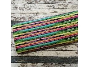 Teplákovina, barevné nepravidelné pruhy