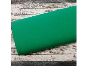 Teplákovina počesaná zelená 025