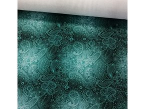 Teplákovina abstrakce smaragd
