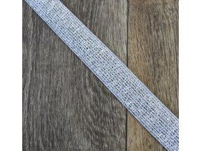 Hladká pruženka 40 mm stříbrná