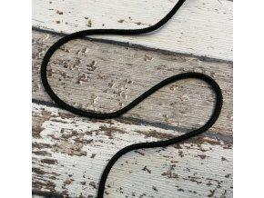 Šňůra, černá, 3 mm