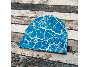Rostoucí čepička Yháček, mramor na modré
