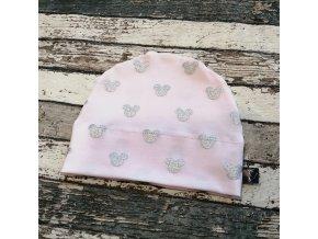 Rostoucí čepička Yháček, myšák stříbrné hlavy na jemně růžové