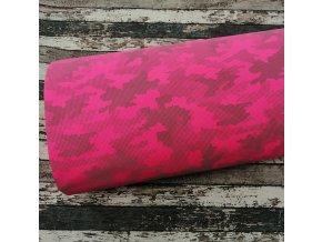 Softshell zimní, maskáč růžový, reflexní