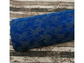 Softshell zimní, maskáč modrý, reflexní