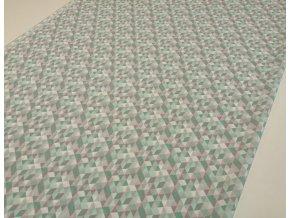 Plátno trojúhelníčky mint