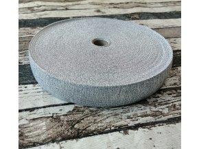 Hladká pruženka 30 mm stříbrná na bílé