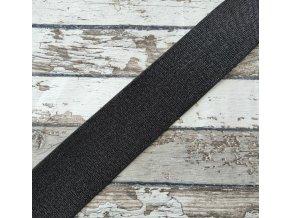 Hladká pruženka třpytivá 50 mm, černá