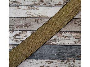 Hladká pruženka třpytivá 50 mm, zlatá