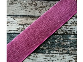 Hladká pruženka třpytivá 50 mm, růžová