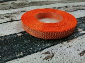 Rypsová stuha cikcak pomerančová