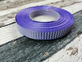 Rypsová stuha cikcak středně fialová