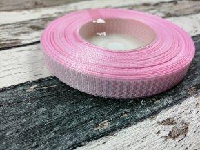 Rypsová stuha cikcak světle růžová