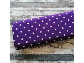 Úplet puntíky velké na fialové