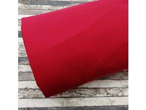 Teplákovina počesaná červená