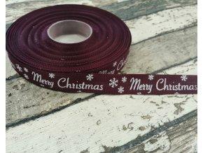 Rypsová stuha merry christmas