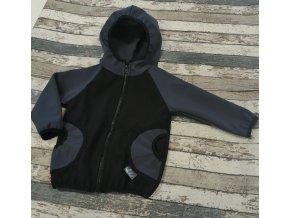 Softshellová bunda Yháček, zimní, černá/antracit