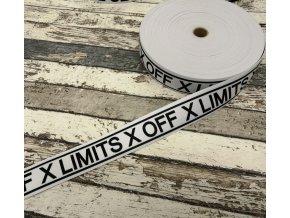 Hladká pruženka na boxerky bílá X Off X Limits