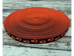 Popruh ťapky neon oranžové