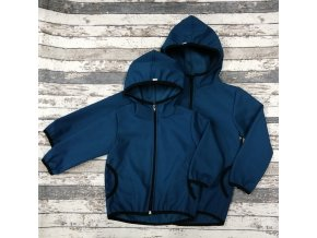 Softshellová bunda Yháček NEW, zimní, tmavý petrolej