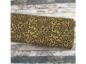 Úplet gepardí vzor na hořčicové