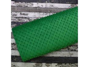 Minky, tmavší zelená/puntík