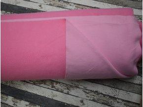 Oboustranný fleece, růžová