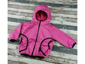 Softshellová bunda Yháček, letní, růžový melír