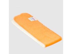 Vkládací plena bavlněný velur Petit Lulu, oranžová